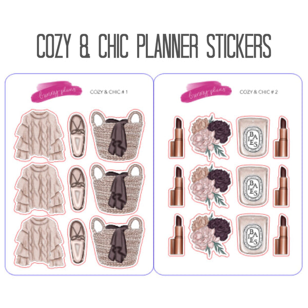 Cozy & Chic Planner Stickers
