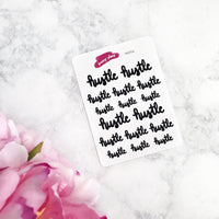 Hustle Lettering Planner Stickers