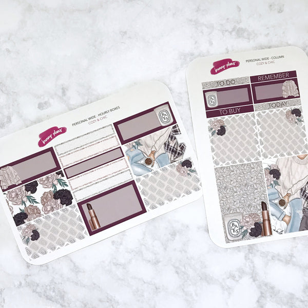 Cozy & Chic Personal Wide Planner Stickers