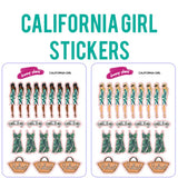 California Girl Planner Stickers