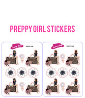 Preppy Girl Planner Stickers