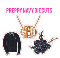 Preppy Navy Die Cut Set