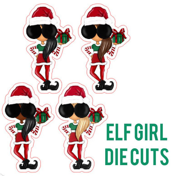 Elf Girl Die Cut