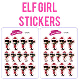 Elf Girl Planner Stickers