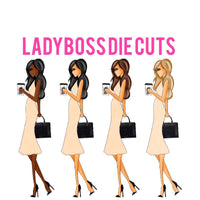 Ladyboss Fashion Girl Die Cut