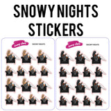 Snowy Nights Planner Stickers
