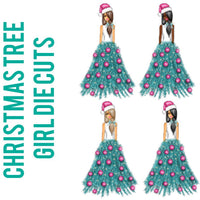 Christmas Tree Girl Die Cuts