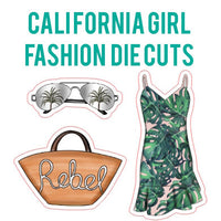 California Girl Fashion Die Cut Set