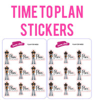 Time to Plan Planner Stickers