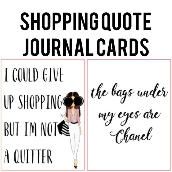 Shopping Quotes Card Die Cut Set