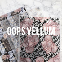 Oops Vellum | 1 sheet of imperfect vellum