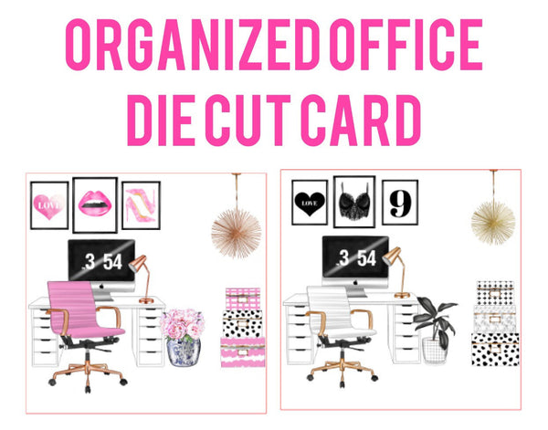 Organized Office Card Die Cuts