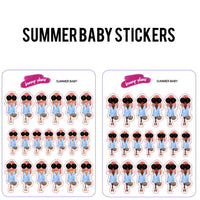 Summer Baby Fashion Girl Stickers