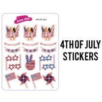 4th of July Stickers
