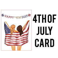 4th of July Card Die Cut