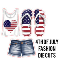 4th of July Fashion Die Cuts