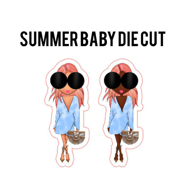 Summer Baby Fashion Girl Die Cut
