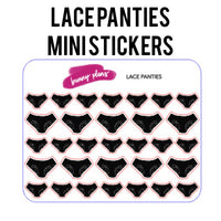 Lace Panties Mini Planner Stickers