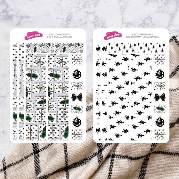 Chic Christmas | Hobonichi Cousin Daily Sticker Kit