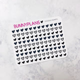 Heart Doodles Mini Planner Stickers