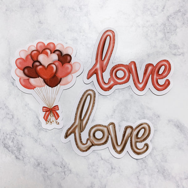 Love Balloons Die Cuts