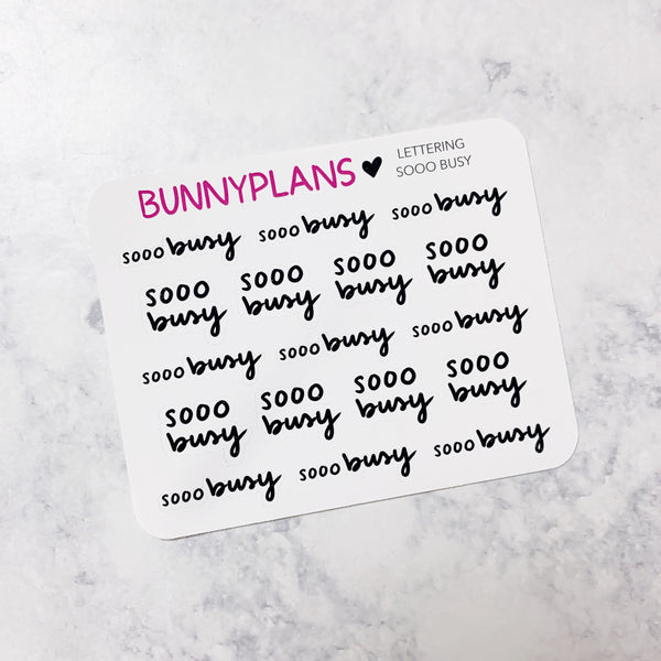 Sooo Busy Lettering Mini Planner Stickers