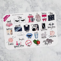 New Year's Resolution Planner Stickers