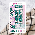 Tropical Vibes | Hobonichi Cousin Monthly Sticker Kit