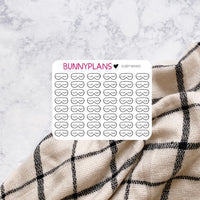 Sleep Mask Doodle Mini Planner Stickers