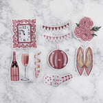 Pink New Year's Eve Die Cuts