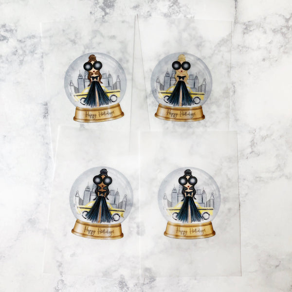 Snow Globe Girl Vellum Planner Dashboard