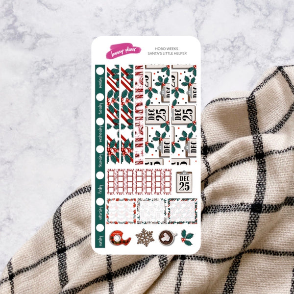 Santa's Little Helper | Hobonichi Weeks Weekly Sticker Kit