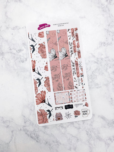 Mom Life | Hobonichi Cousin Monthly Sticker Kit