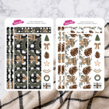Farmhouse Christmas | Hobonichi Cousin Daily Sticker Kit