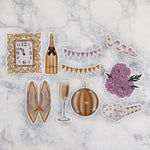 New Year's Eve Gold & Purple Die Cuts