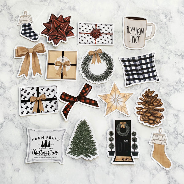 Farmhouse Christmas Die Cuts