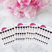 Merlot Girl Mini Planner Stickers