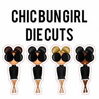 Chic Bun Girl Die Cuts