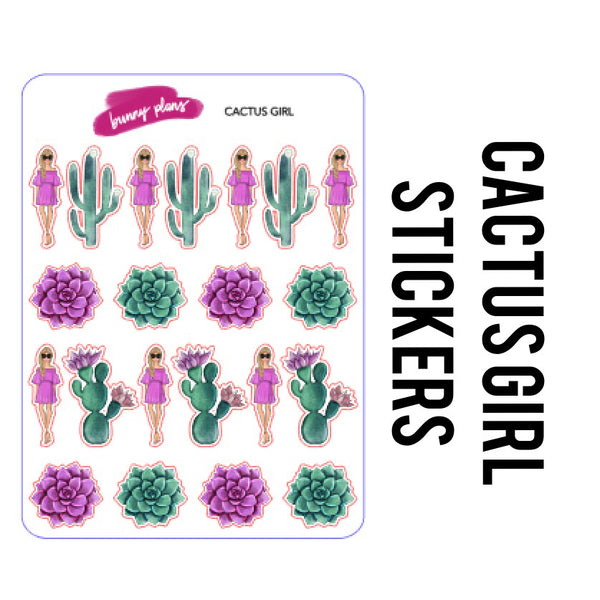 Cactus Girl Stickers