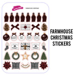 Farmhouse Christmas Planner Stickers