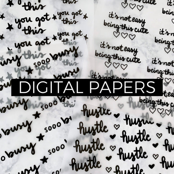 Sooo Busy Digital Paper