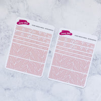 Abstract Peach | Hobonichi Weeks Index Sticker Kit