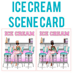 Ice Cream Shop Scene Card Die Cut