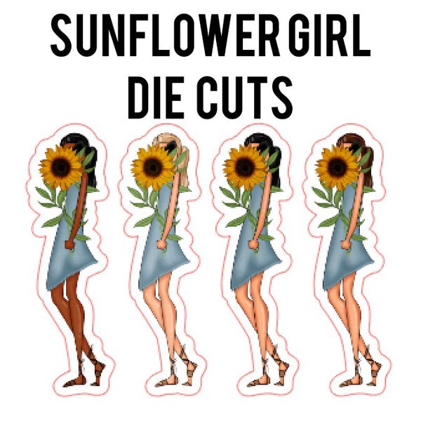 Sunflower Girl Die Cuts