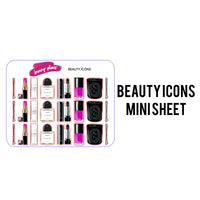 Beauty Icons Mini Planner Stickers