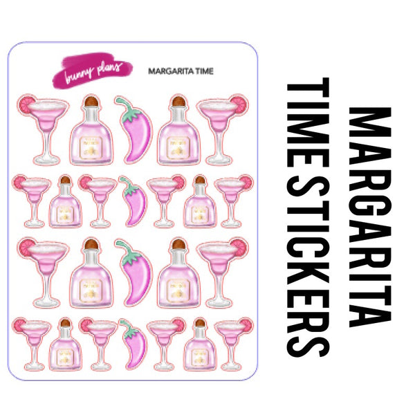 Margarita Time Stickers