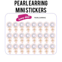 Pearl Earring Mini Planner Stickers