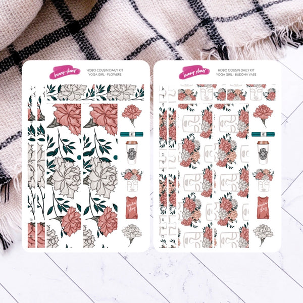 Yoga Girl | Hobonichi Cousin Daily Sticker Kit