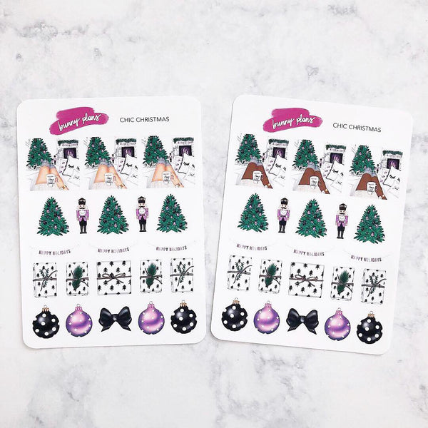 Chic Christmas Stickers