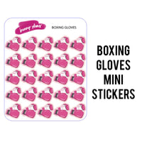 Boxing Gloves Mini Planner Stickers